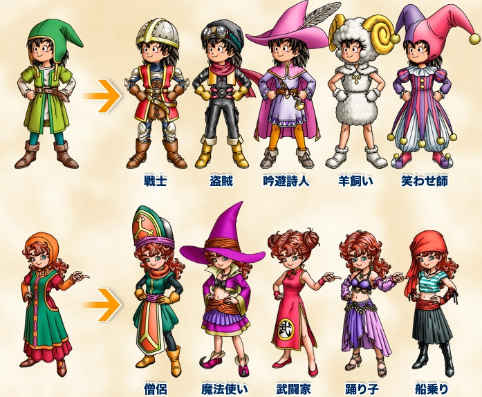 dragon quest 3ds how to unlock the vocation change